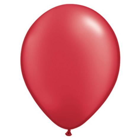 "11"" Latex Balloon, Pearl Ruby Red available at Shop Sweet Lulu"