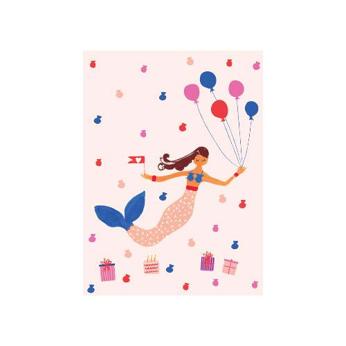 Petite Card - Mermaid's Birthday