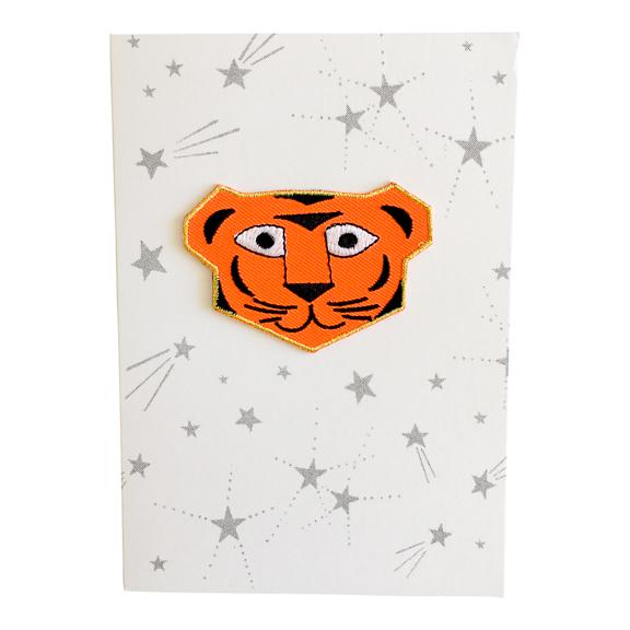 Greeting Card with Iron-On Patch, Tiger