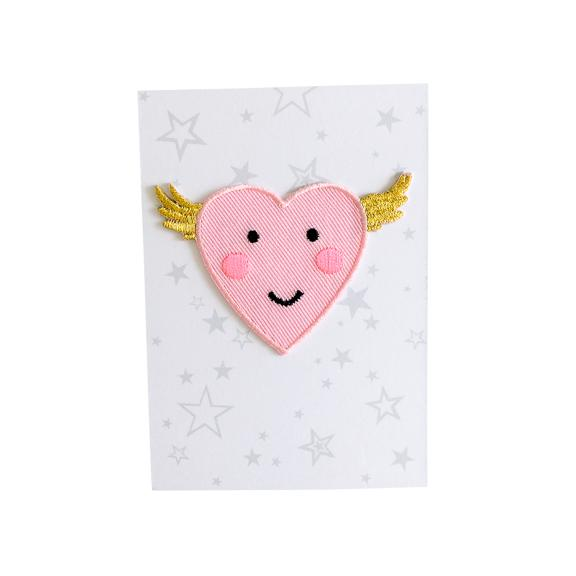 Flying Heart Iron-On Patch