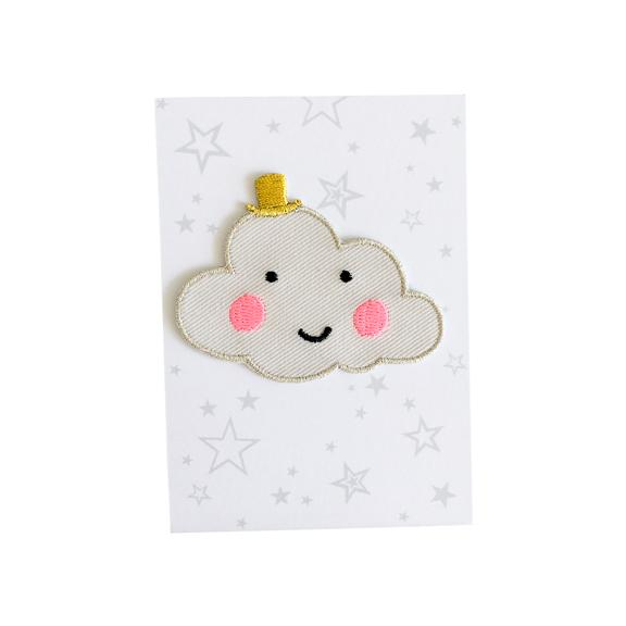 Happy Cloud Iron-On Patch
