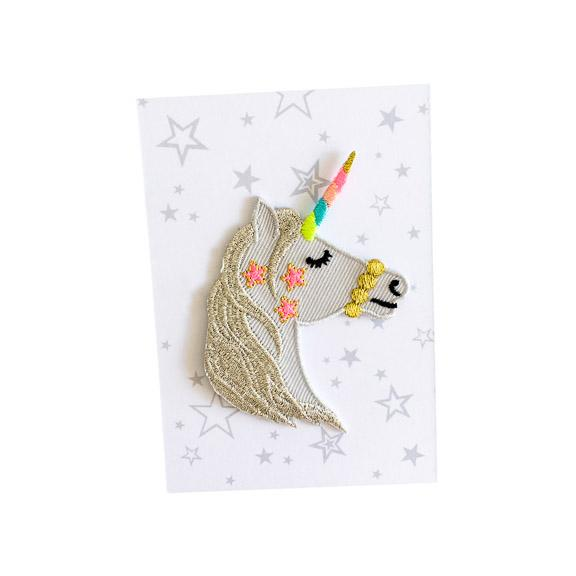 Unicorn with Stars Iron-On Patch