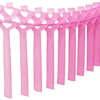 Tissue Streamer Garland, Party Pink
