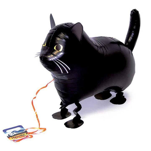 Air Walker Mylar Balloon Pet, Black Cat available at Shop Sweet Lulu