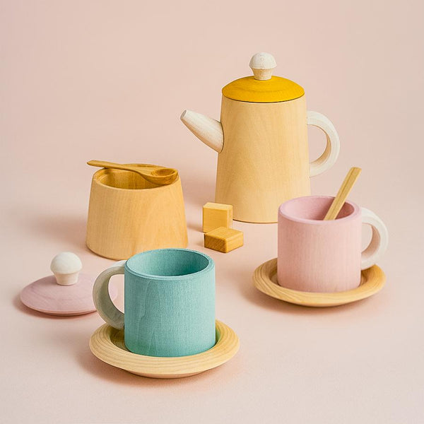 Pastel Wooden Tea Set