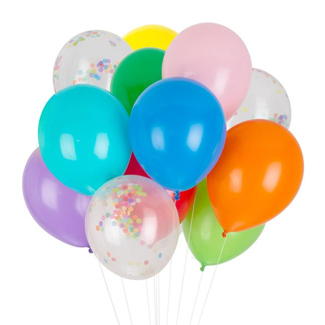 Party Balloon Mix, Rainbow Collection