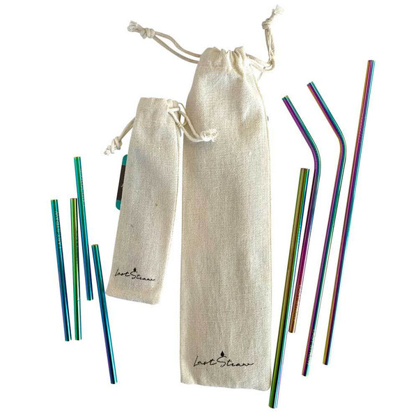 Reusable Stainless Steel Straws: Rainbow
