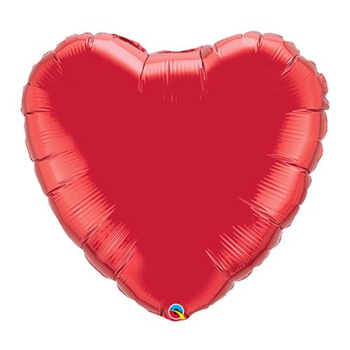 "18"" Ruby Red Foil Heart Balloon"