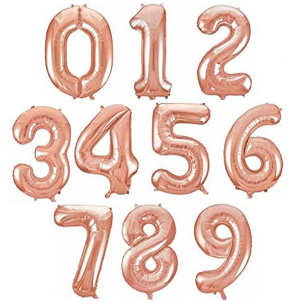 "32.5"" Rose Gold Foil Balloon Number available at Shop Sweet Lulu"