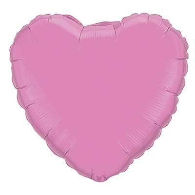 "18"" Party Pink Foil Heart Balloon"