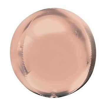 "16"" Rose Gold Mylar Balloon Orbz available at Shop Sweet Lulu"