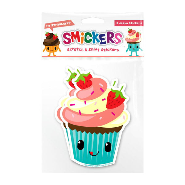 Jumbo Smickers - Strawberry Cupcake Scented Stickers