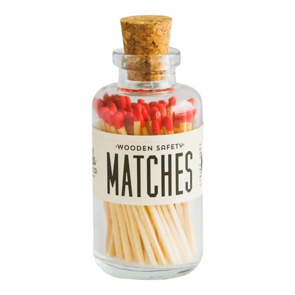 Red Safety Matches in Glass Jar