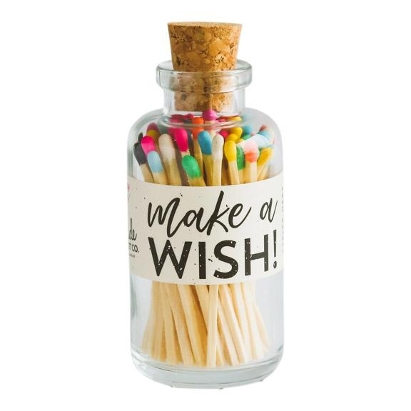 "Multi Color ""Happy Birthday"" Safety Matches in Glass Jar"