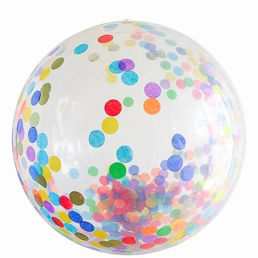 Jumbo Round Confetti Balloon: Over the Rainbow available at Shop Sweet Lulu
