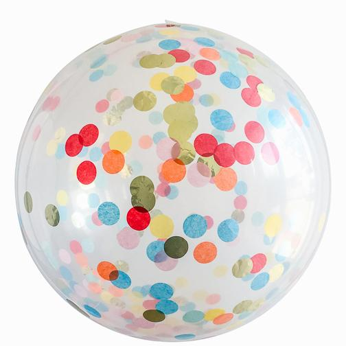 Jumbo Round Confetti Balloon: I Believe in Unicorns available at Shop Sweet Lulu