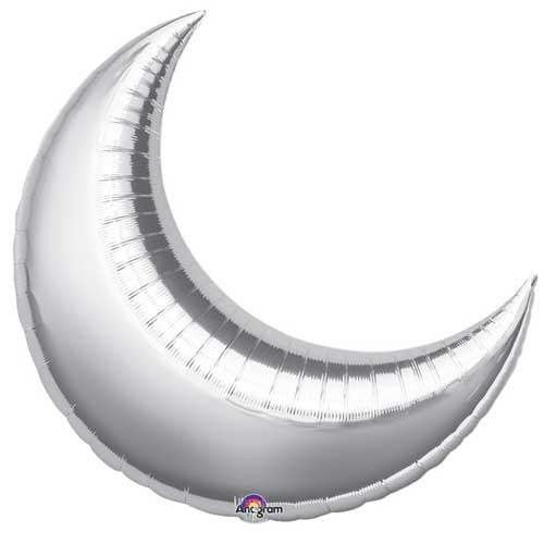 "26"" Silver Foil Crescent Balloon available at Shop Sweet Lulu"