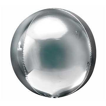 "16"" Silver Mylar Balloon Orbz available at Shop Sweet Lulu"