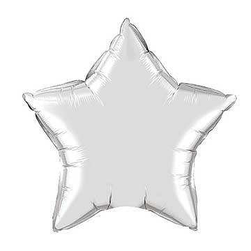 "20"" Silver Foil Star Balloon available at Shop Sweet Lulu"