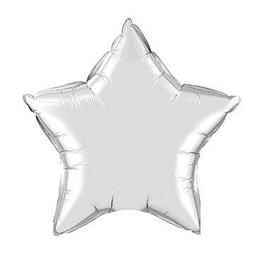 "20"" Silver Foil Star Balloon"