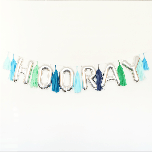 "13.5"" Silver Foil Letter Balloon available at Shop Sweet Lulu"