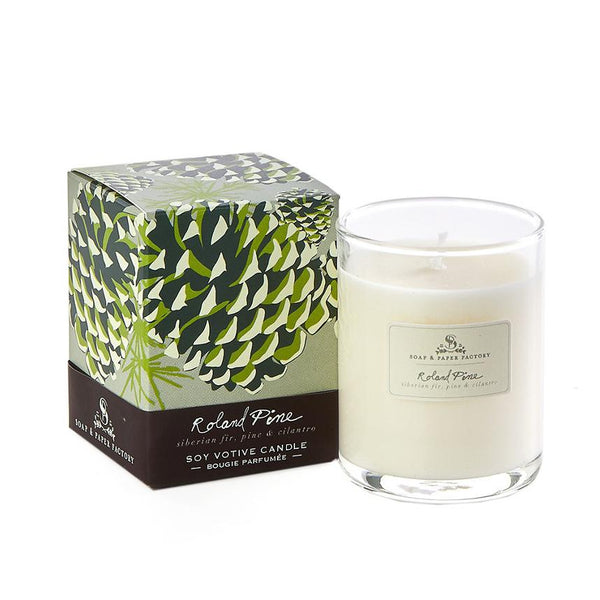2.4 oz Roland Pine Votive Soy Candle