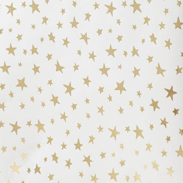Gold Star Gift Wrap Roll