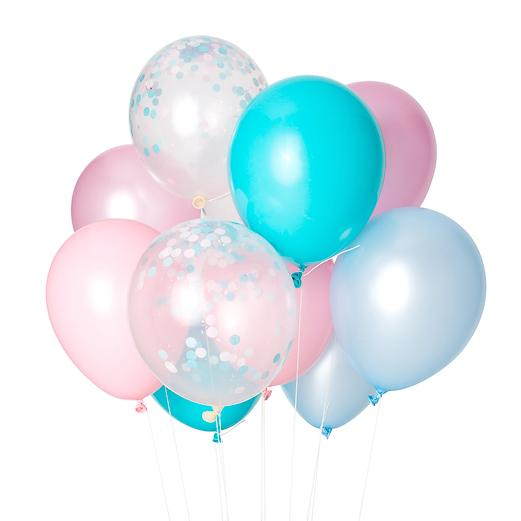 Party Balloon Mix, Cotton Candy Collection