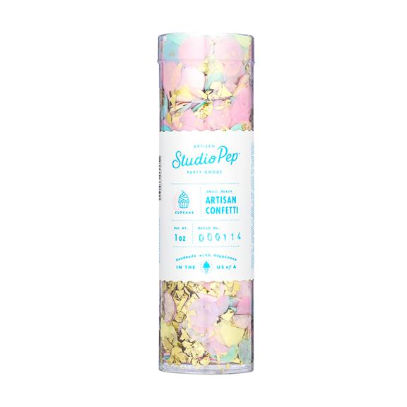 Artisan Confetti Tube, Cupcake Collection