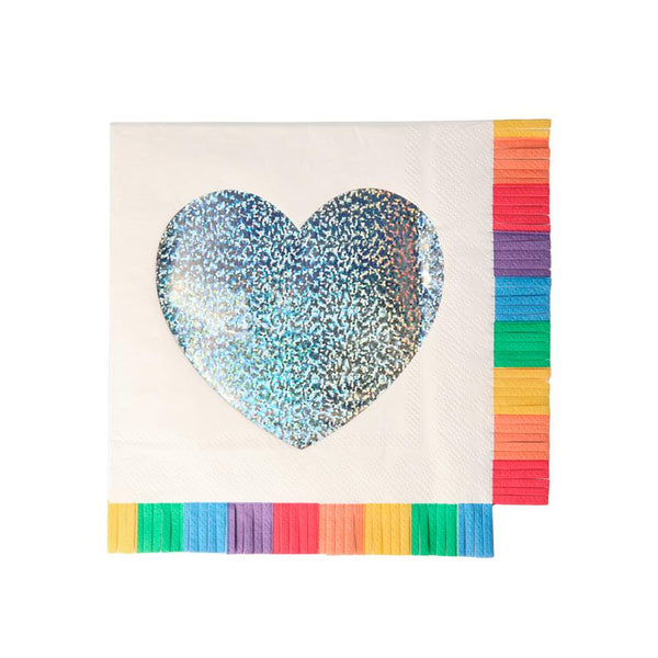 Rainbow Fringe Large Napkins
