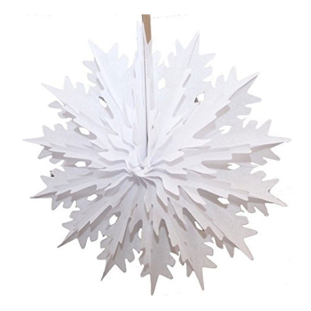 White Honeycomb Snowflake, 19""