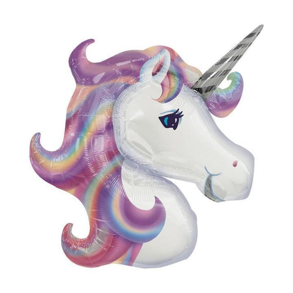 "33"" Mylar Pastel Rainbow Unicorn available at Shop Sweet Lulu"