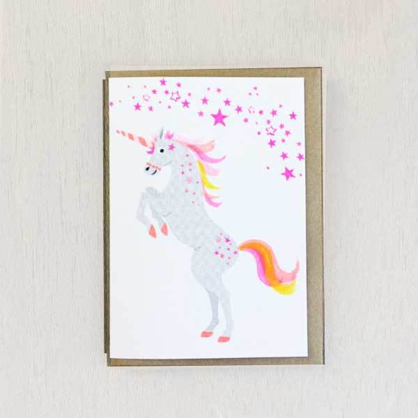 Unicorn Riso Pets Card