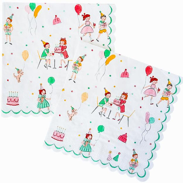 'It's a Party' Large Vintage Napkins - Shop Sweet Lulu