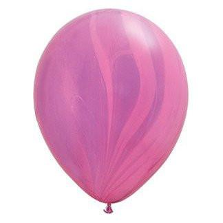 "11"" Latex Balloon, Pink & Violet Marble available at Shop Sweet Lulu"