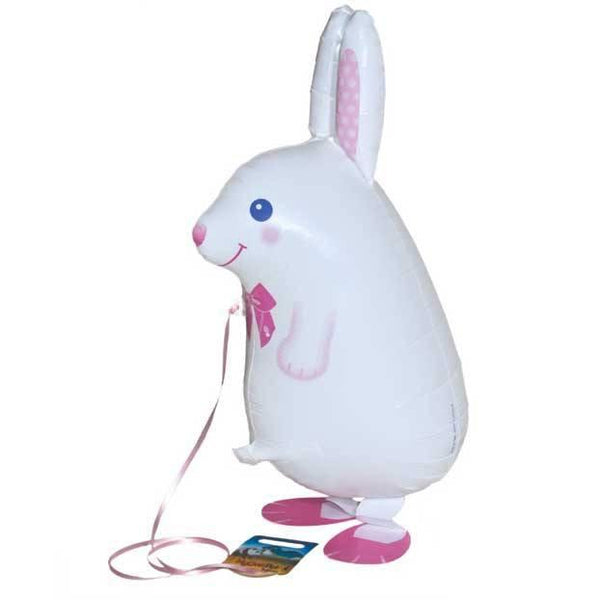 Air Walker Mylar Balloon Pet, White Rabbit available at Shop Sweet Lulu