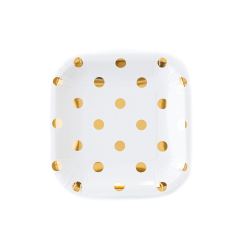 "Gold Dot 7"" Plate - Cream"