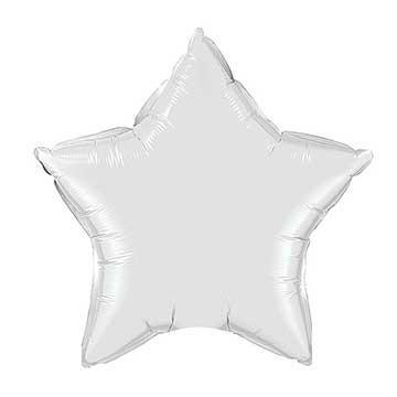 "20"" White Foil Star Balloon available at Shop Sweet Lulu"