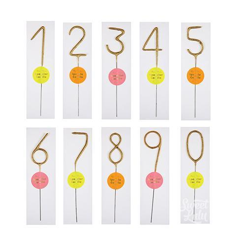 Wonder Candle Sparkler Numbers