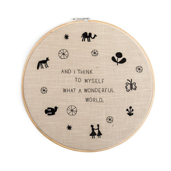 Wonderful World Embroidery Hoop