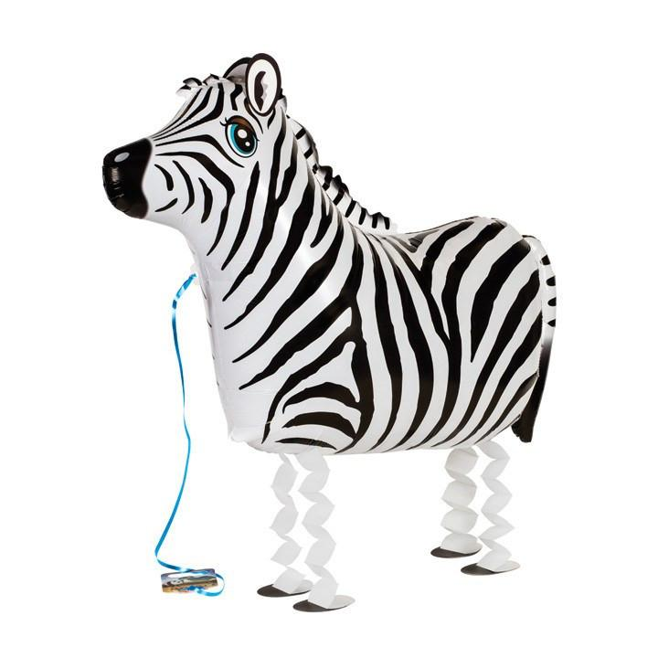 Air Walker Mylar Balloon Pet, Zebra available at Shop Sweet Lulu