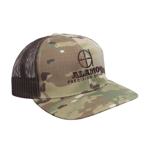 APR Meshback Hat Multicam with Brown Logo