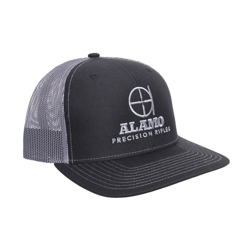 APR Meshback Hat Black and Gray with Gray Logo