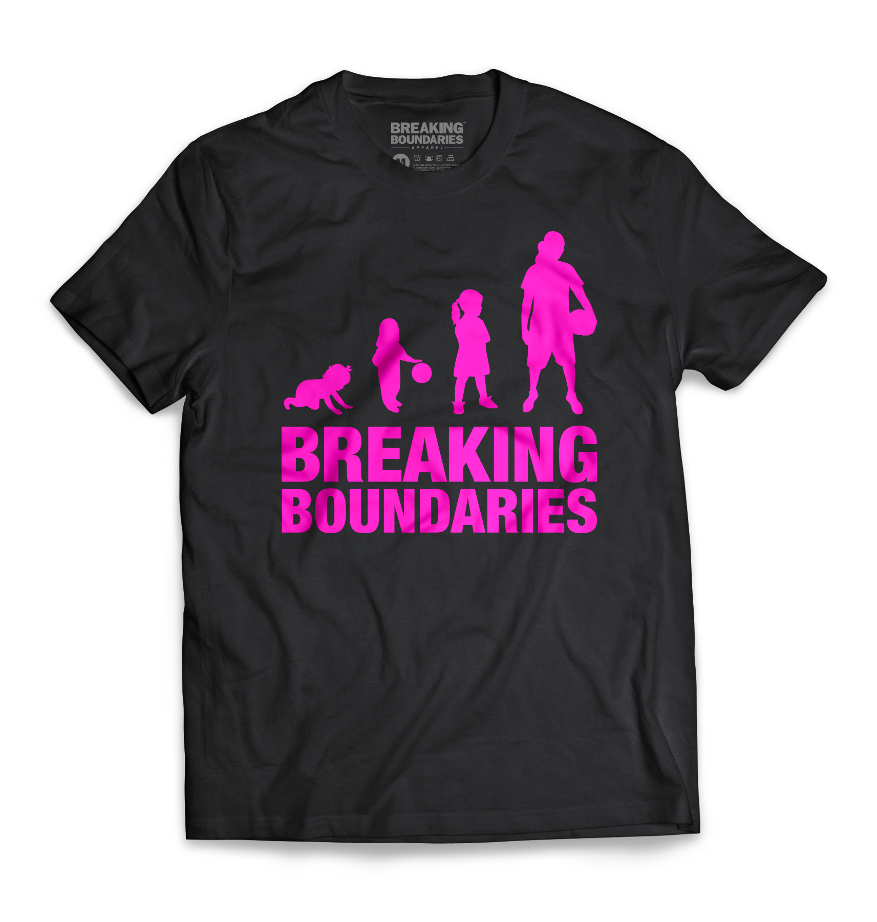Evolution Tee - Women's Basketball (Black/Pink) - Breaking Boundaries Apparel  - 1