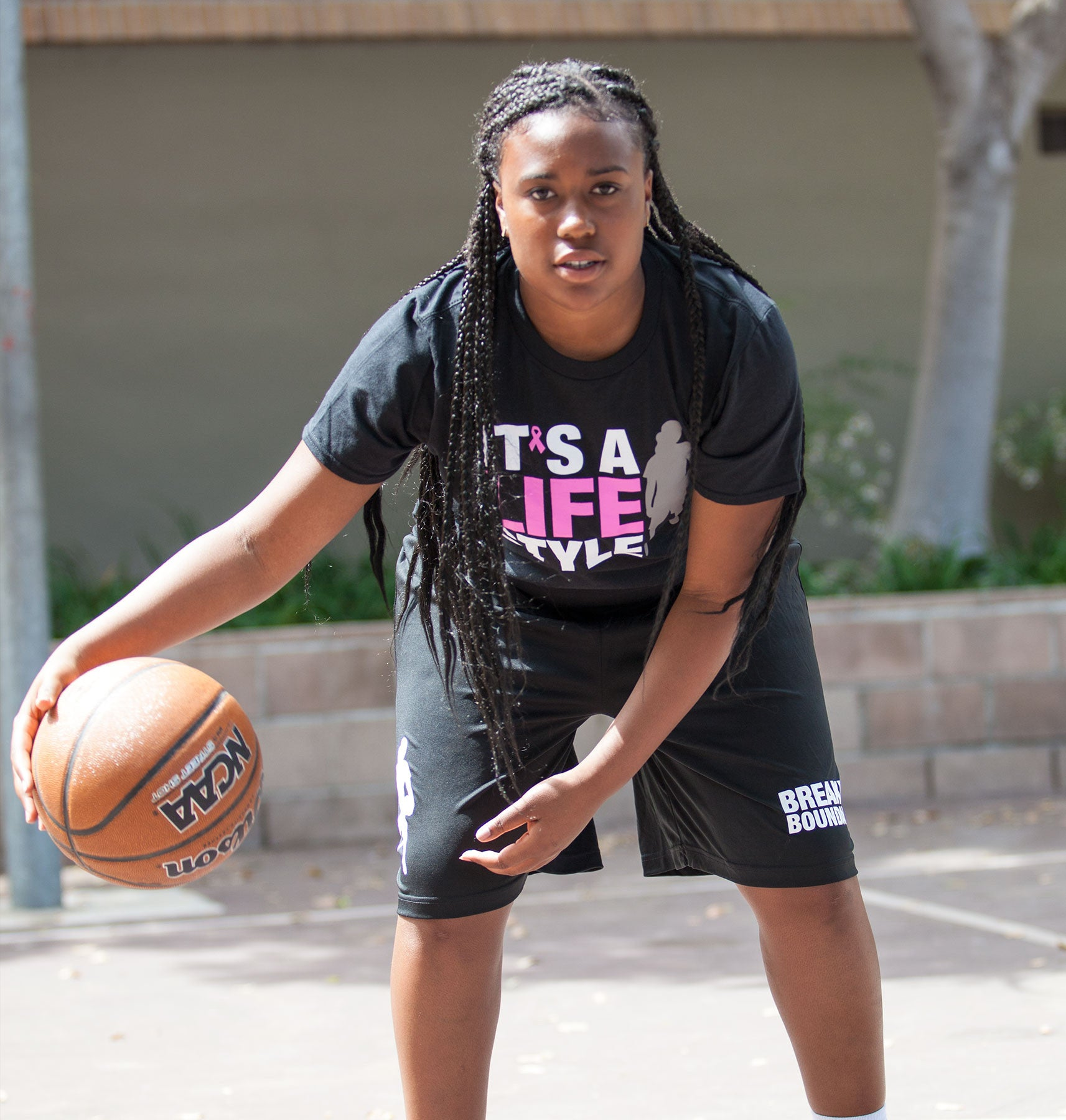 Breast Cancer Awareness Tee - Women's Basketball - Breaking Boundaries Apparel  - 3