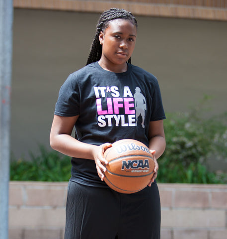 Evolution Tee - Women's Basketball (Black/Pink)