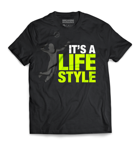It's a Lifestyle Tee - Volleyball - Breaking Boundaries Apparel  - 1