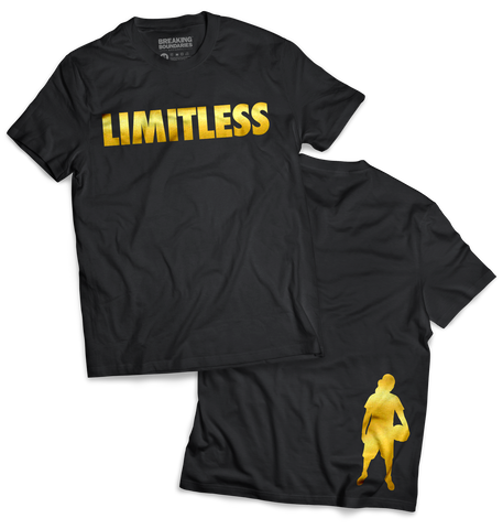 Limitless Tee - Black/Gold - Breaking Boundaries Apparel