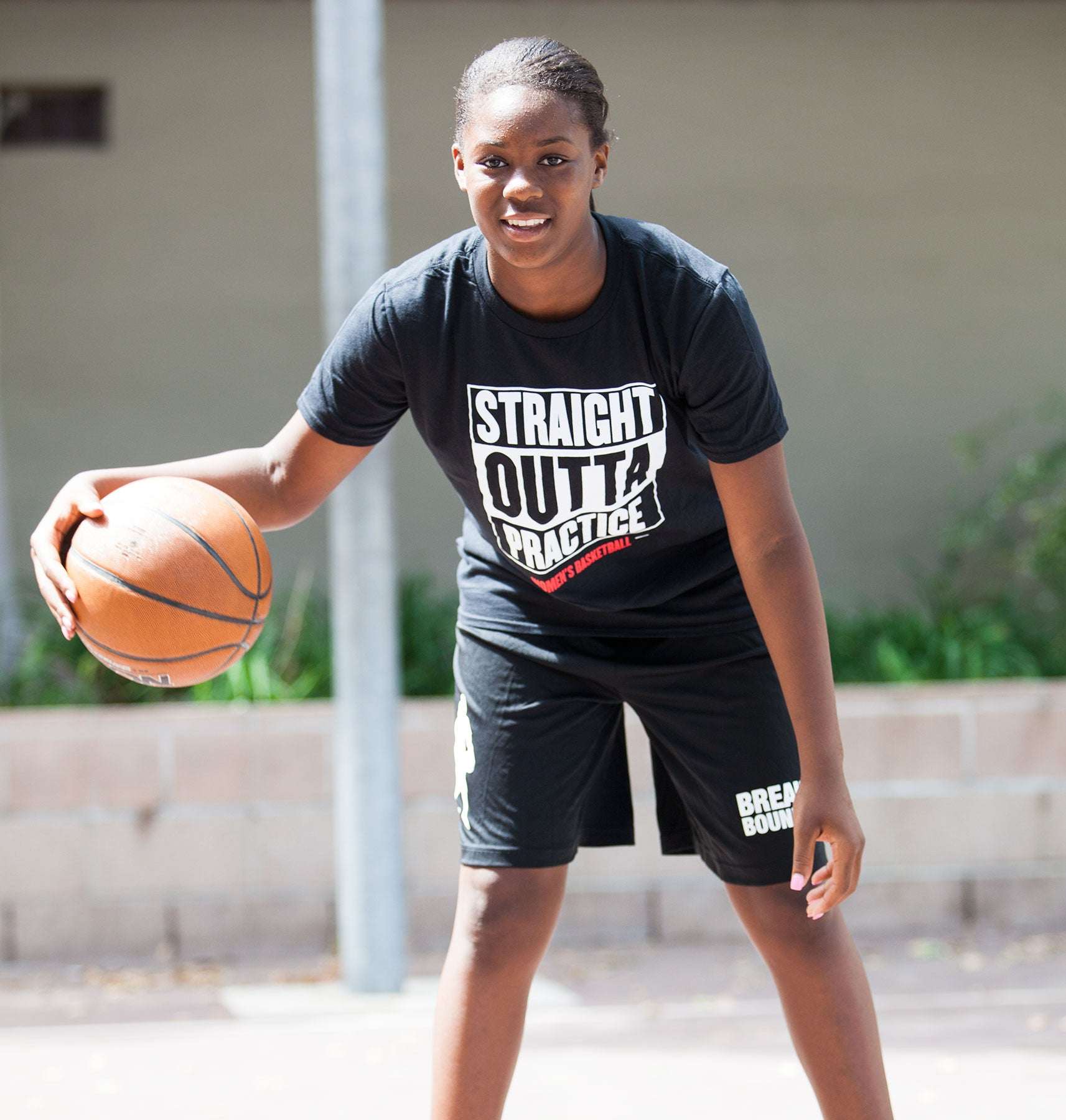 Straight Outta Practice Tee - Women's Basketball - Breaking Boundaries Apparel  - 2