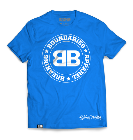 BBA Blue Tri-blend Tee - Breaking Boundaries Apparel  - 1